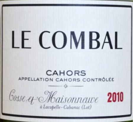 Vin No3 Cahors Le Combal 2010